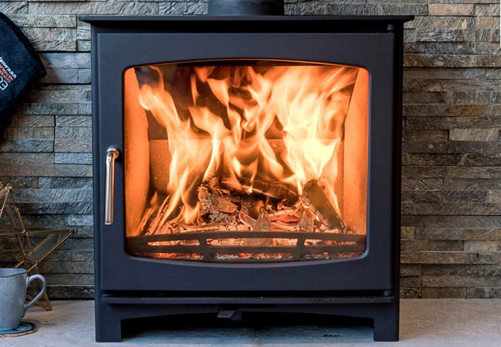 Slimline Ecosy+ Panoramic Woodburning Stove
