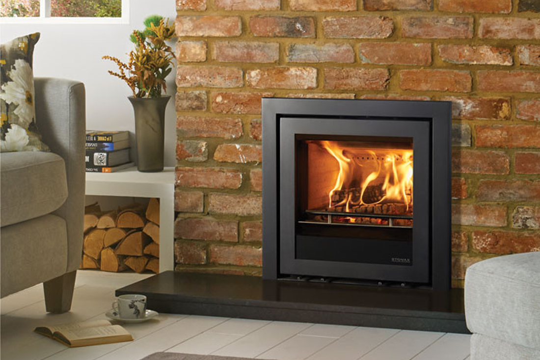 The Stovax Elise 540 Cassette Stove with Profil Frame 3 Sided